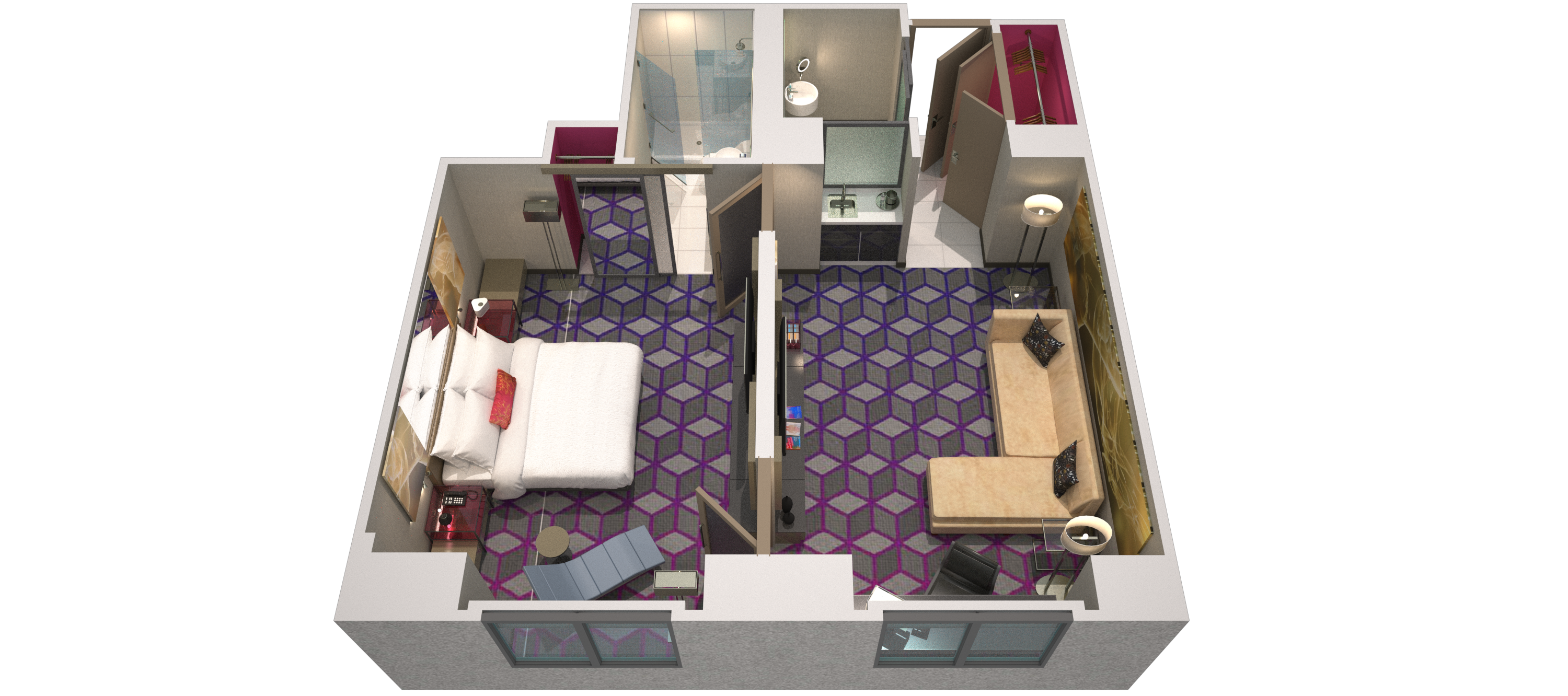 fantastic 2 room flat floor plan. Download floor plan Fantastic Suite  W New York Times Square